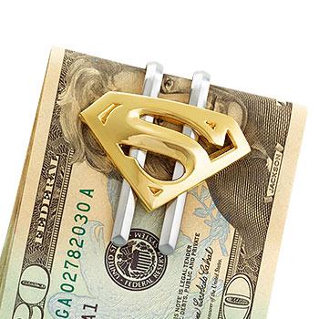 Superman Returns Geldklammer - Gold Symbol