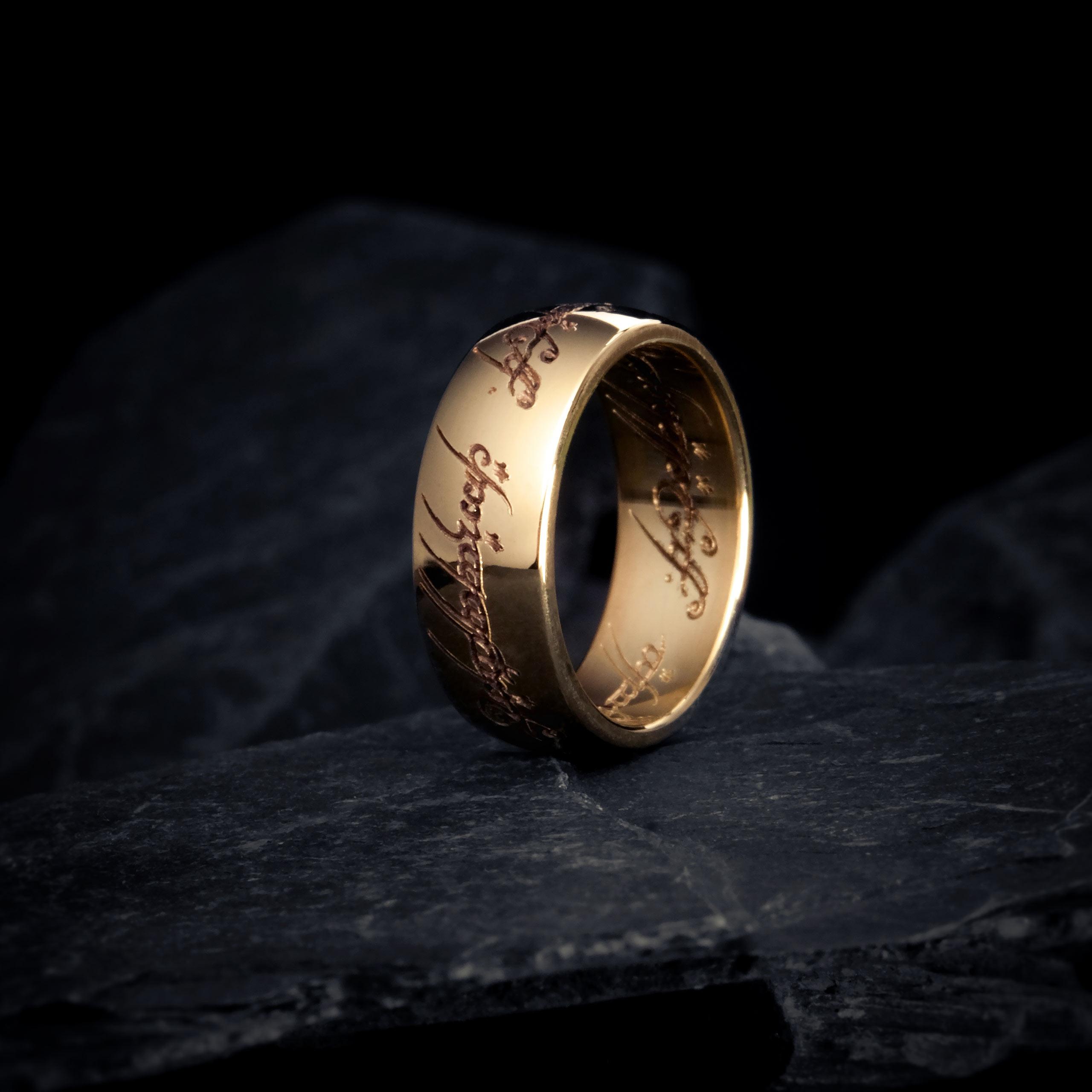 der herr der ringe ring gold 8 karat offizieller warner bros shop. Black Bedroom Furniture Sets. Home Design Ideas