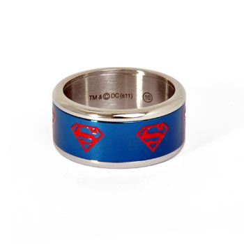 Superman Symbol Ring blau