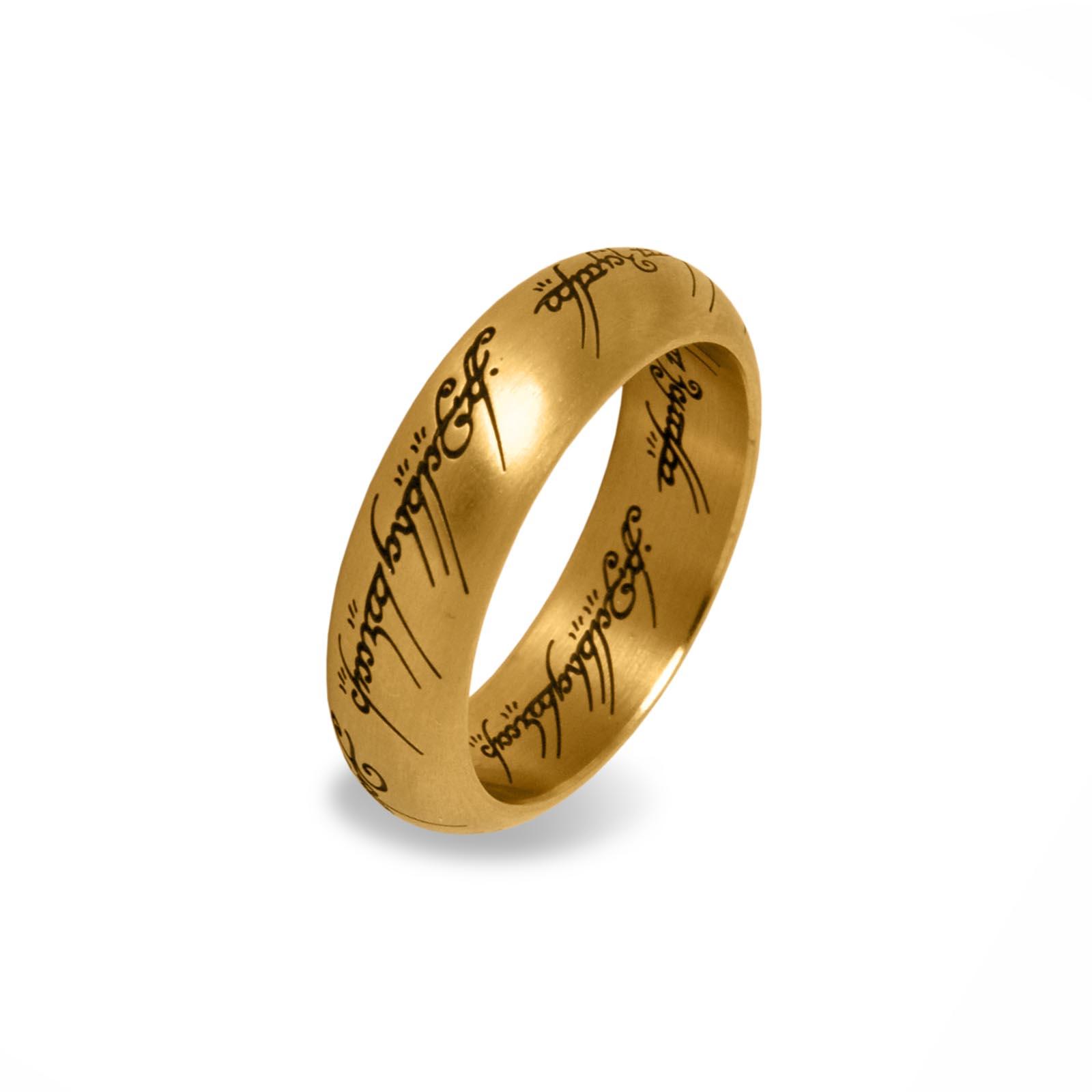 herr der ringe der eine ring im schmuckdisplay gold offizieller warner bros shop. Black Bedroom Furniture Sets. Home Design Ideas