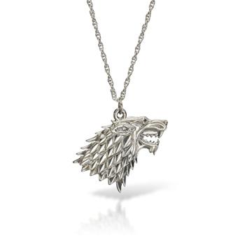 Game of Thrones - Stark Wappen Kette Silber