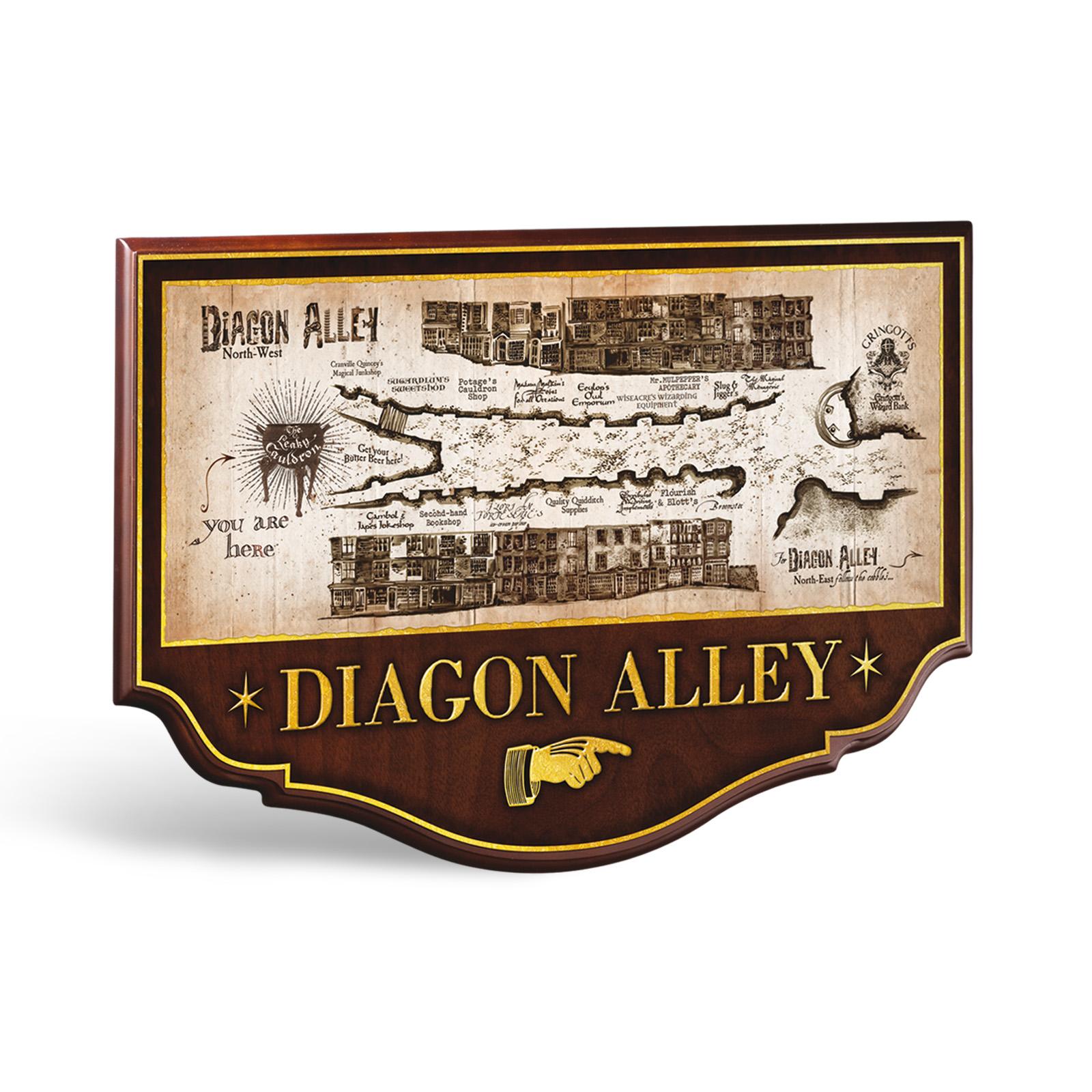 harry potter winkelgasse wandbild noble collection exklusive kostbarkeiten. Black Bedroom Furniture Sets. Home Design Ideas