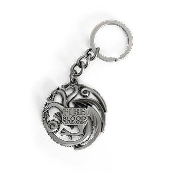 Game of Thrones - Targaryen Wappen Schlüsselanhänger antik
