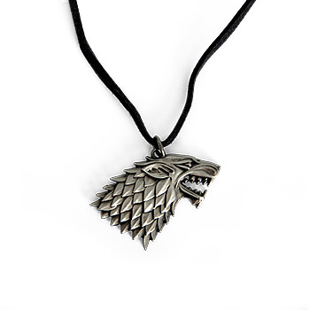 Game of Thrones - Stark Wappen Schattenwolf Kette