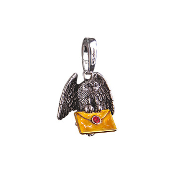Eulen Post Lumos Charm Anhänger - Harry Potter